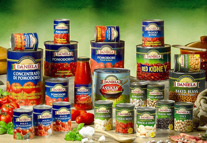 Prodotti alimentari italiani conserve Daniela Food